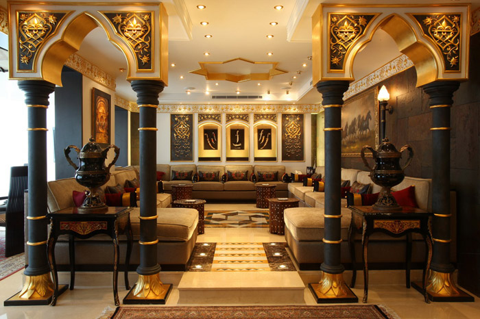 Oriental style for Hotel design ligurie